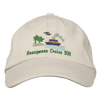 Honeymoon Cruise Customizable Hat Embroidered Baseball Cap