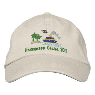 Honeymoon Cruise Customizable Hat Embroidered Hats