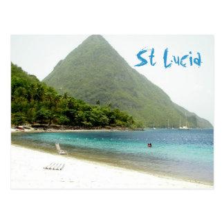 honeymoon, St Lucia Postcard