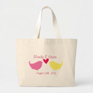 Honeymoon Tote Bag- Love Birds Jumbo Tote Bag