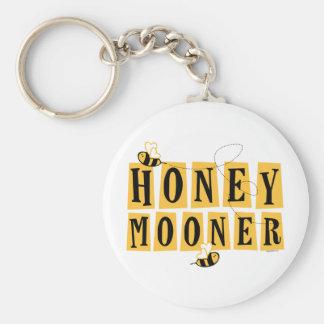 Honeymooner Bee Basic Round Button Key Ring