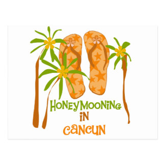 Honeymooning in Cancun Postcard