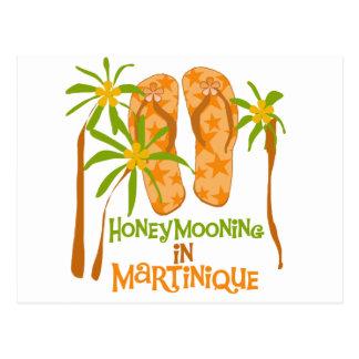 Honeymooning in Martinique Postcard