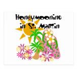 Honeymooning in St. Martin Post Card