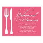 HONEYSUCKLE FLATWARE | REHEARSAL DINNER INVITE POST CARD