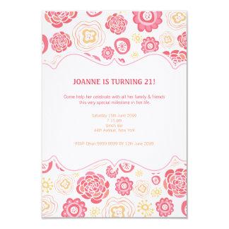 Honeysuckle Flowers Summer 21st Birthday Invite
