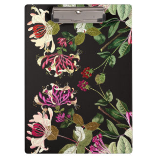 Honeysuckle Vine Floral Flowers Garden Clipboard
