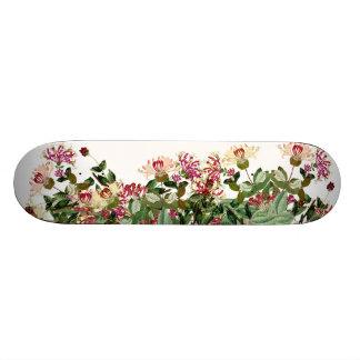 Honeysuckle Vine Floral Flowers Skateboard