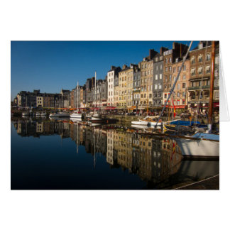 Honfleur Harbour, France Card