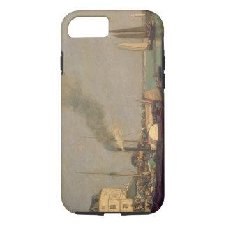 Honfleur. La Jetee, 1854-57 (oil on panel) iPhone 8/7 Case