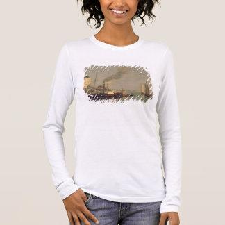 Honfleur. La Jetee, 1854-57 (oil on panel) Long Sleeve T-Shirt