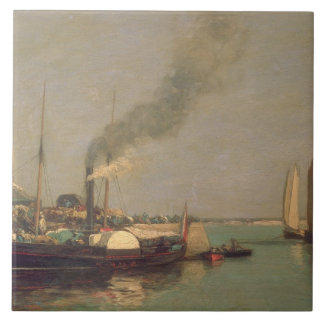 Honfleur. La Jetee, 1854-57 (oil on panel) Tile