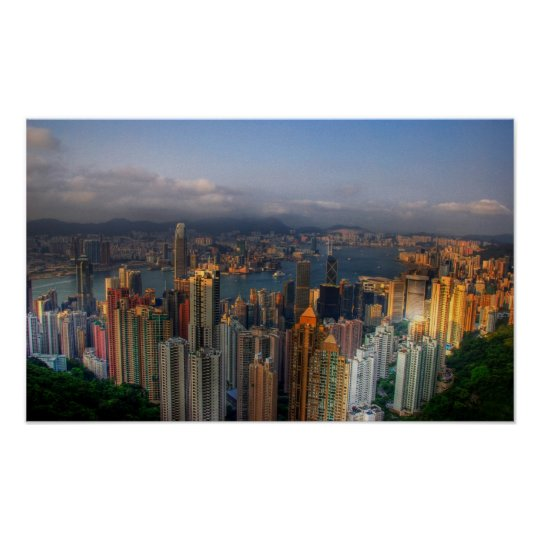 Hong Kon morning light Poster