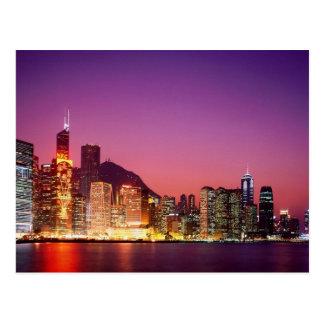 Hong Kong at  Night Postcard