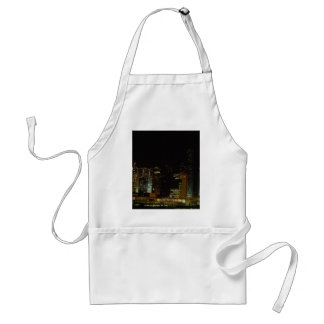 Hong Kong at night, with star ferry passenger craf Adult Apron