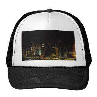 Hong Kong at night, with star ferry passenger craf Mesh Hat