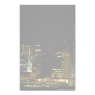 Hong Kong at night, with star ferry passenger craf Stationery Design