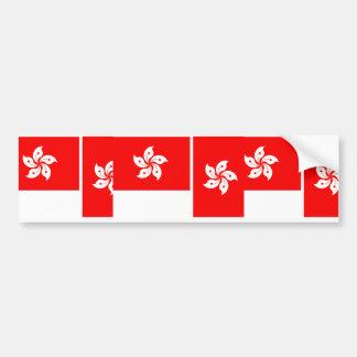 Hong Kong, China flag Bumper Sticker