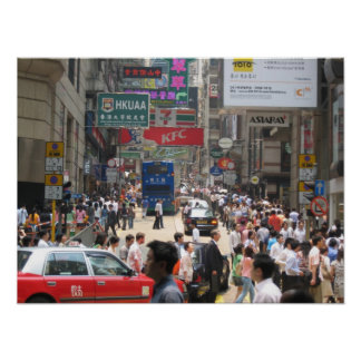 Hong Kong City Traffick Poster