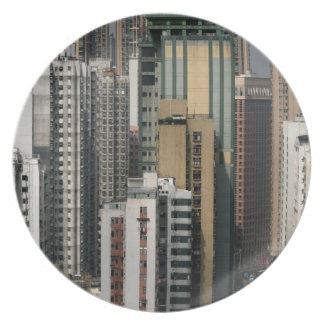 Hong Kong Cityscape Plate