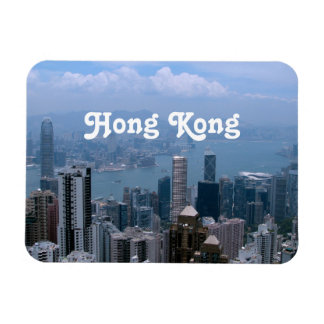 Hong Kong Cityscape Rectangular Photo Magnet