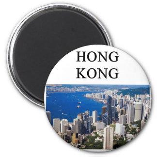 hong kong design 6 cm round magnet