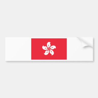 Hong Kong Flag Bumper Sticker