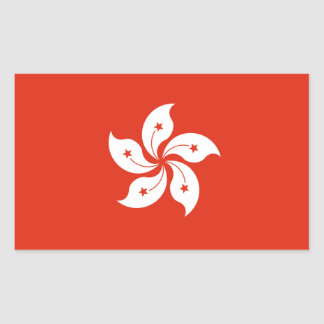 Hong Kong Flag. China/Chinese Rectangular Sticker
