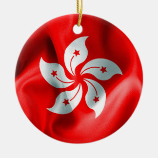 Hong Kong Flag Double-Sided Christmas Ornament
