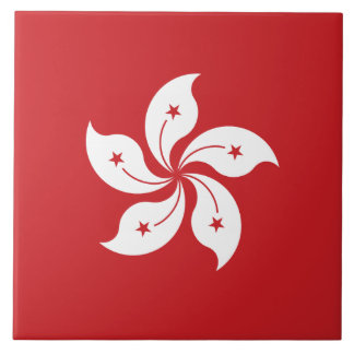 Hong Kong Flag Large Square Tile