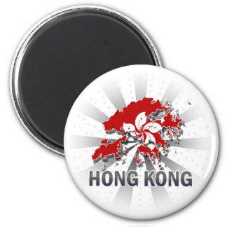 Hong Kong Flag Map 2 0 Refrigerator Magnets