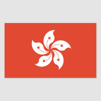 Hong Kong Flag Rectangular Sticker