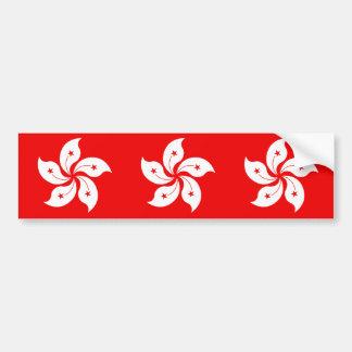 Hong Kong Flag White Orchid Symbol Bumper Sticker