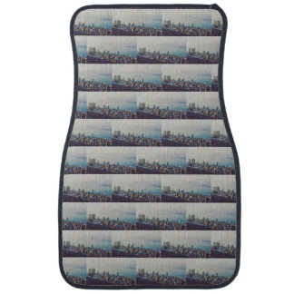 Hong Kong From Above Pattern Car Mat