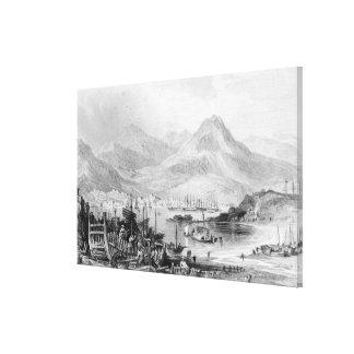 Hong-Kong from Kow-loon Canvas Print