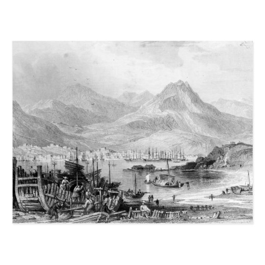 Hong-Kong from Kow-loon Postcard