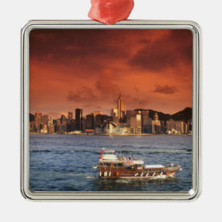 Hong Kong Harbor at Sunset Christmas Ornament