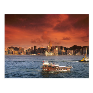 Hong Kong Harbor at Sunset Postcard