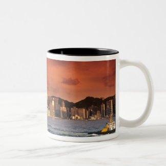 Hong Kong Harbor at Sunset Two-Tone Coffee Mug
