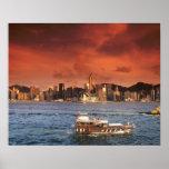 Hong Kong Harbour at Sunset