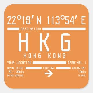 Hong Kong International Airport Code Square Sticker