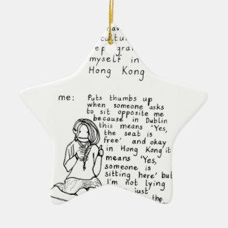 Hong Kong Mindset Christmas Ornament