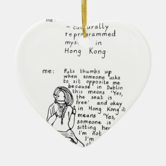 Hong Kong Mindset Christmas Ornament
