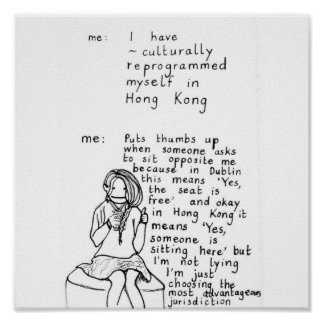 Hong Kong Mindset Poster