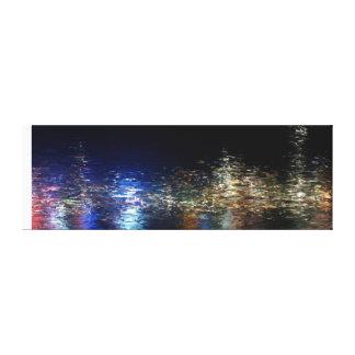 Hong-Kong night Canvas Print