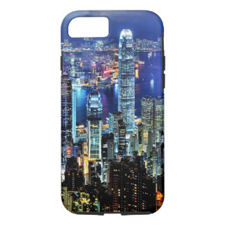 Hong Kong night skyline iPhone 7 Case