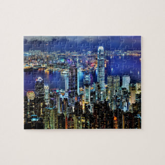 Hong Kong night skyline Puzzles