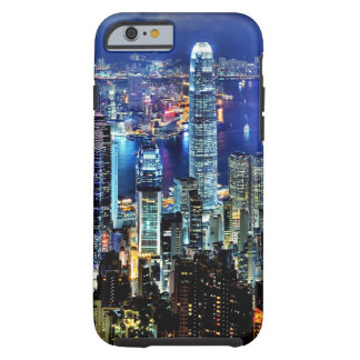 Hong Kong night skyline Tough iPhone 6 Case