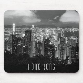Hong Kong Night View Black & White Mouse Pad