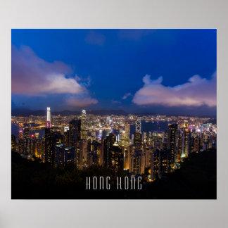 Hong Kong Night View Poster